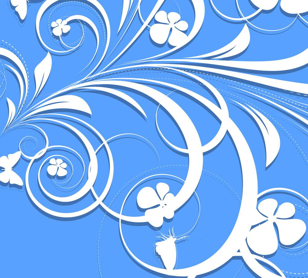 Abstract Swirl Flourish Design