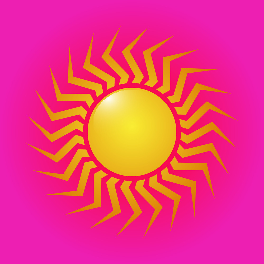 Abstract Swirl Sun Icon