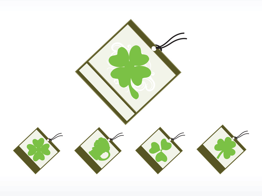 Abstract Tag For Patrick Day Illustration