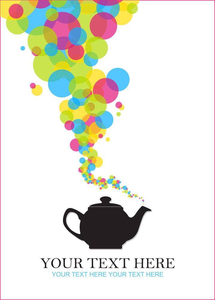 Abstract Teapot Illustration .