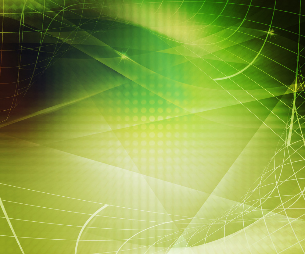 Abstract Technology Green Background