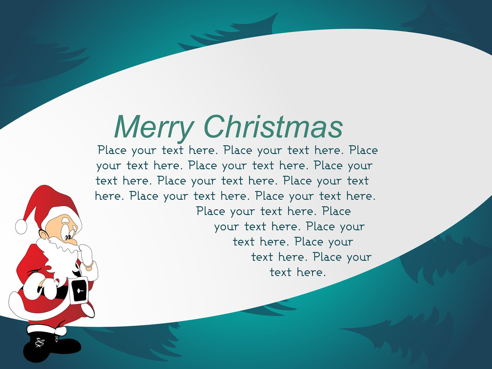 Abstract Text Background With Jingle
