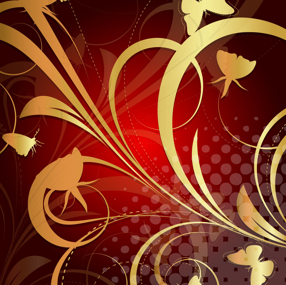 Abstract Texture Flora Background