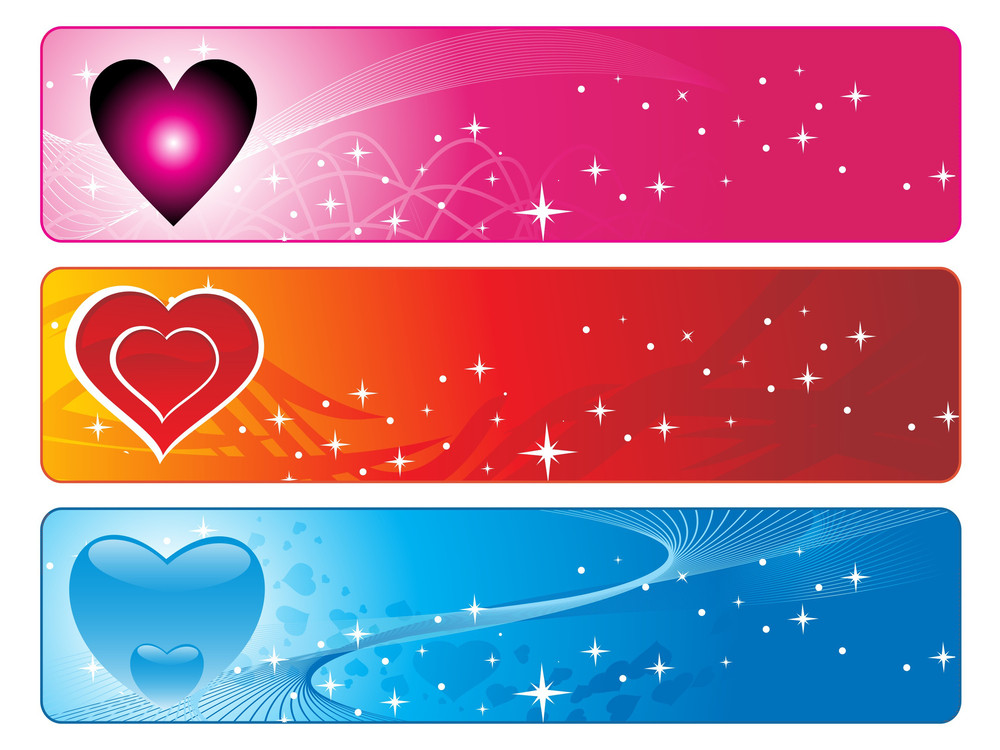 Abstract Three Colorful Design Banner