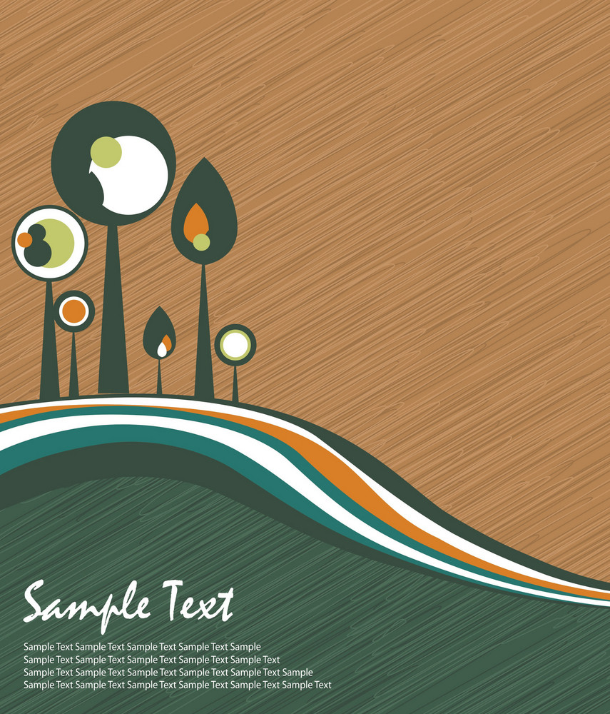 Abstract Trees Vector Illustration