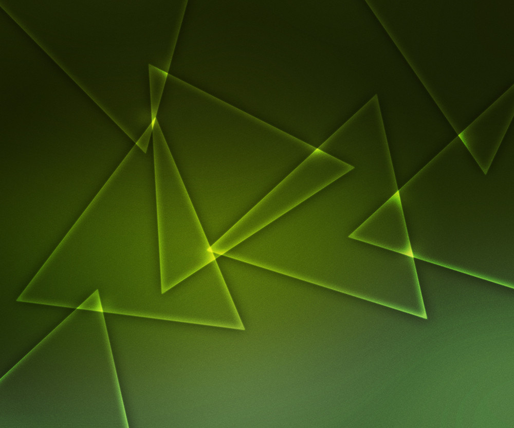Abstract Triangles Green Shapes Background