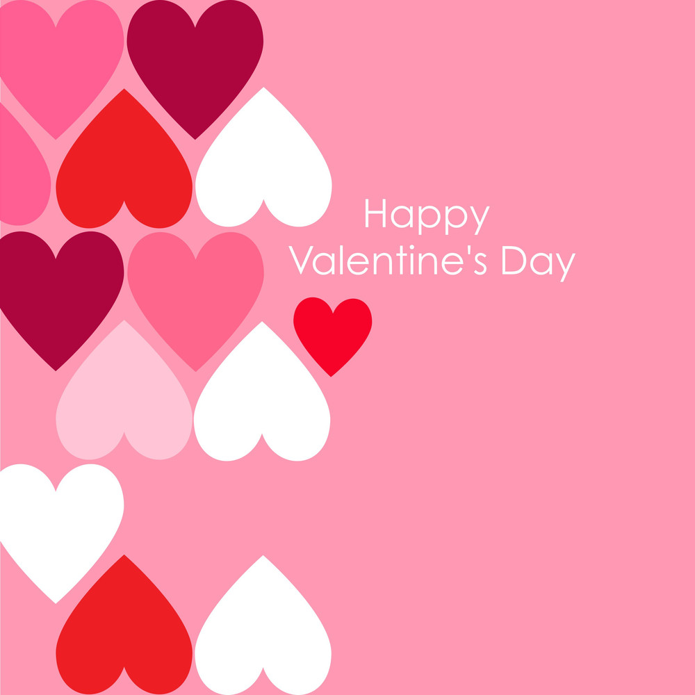Abstract Valentine Background With Hearts