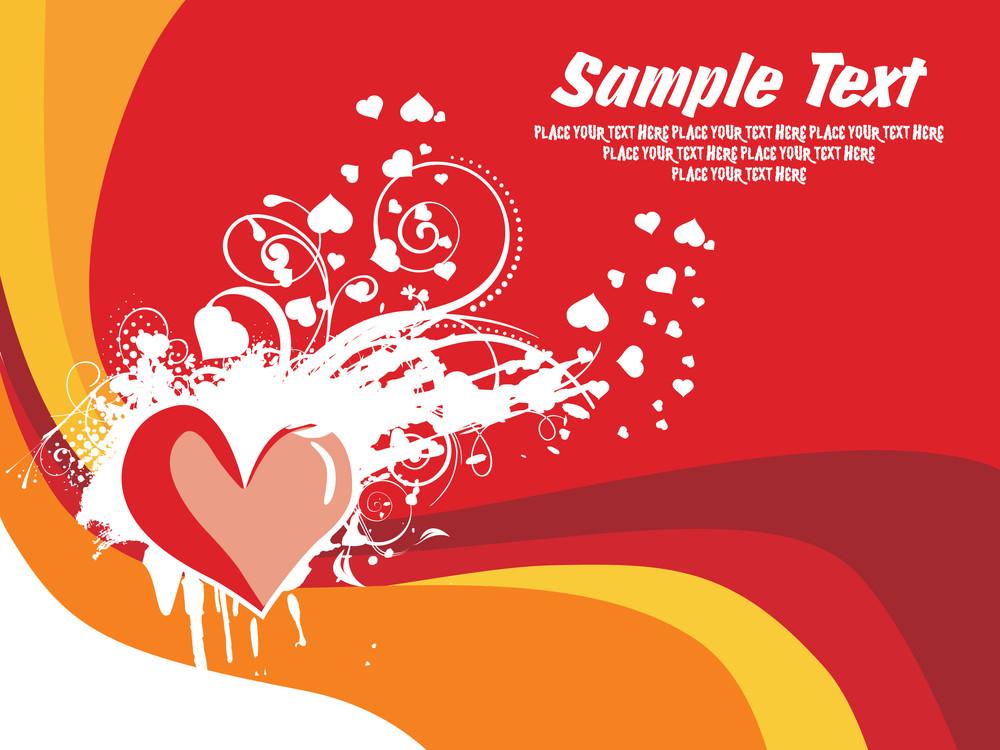 Abstract Valentine Banner