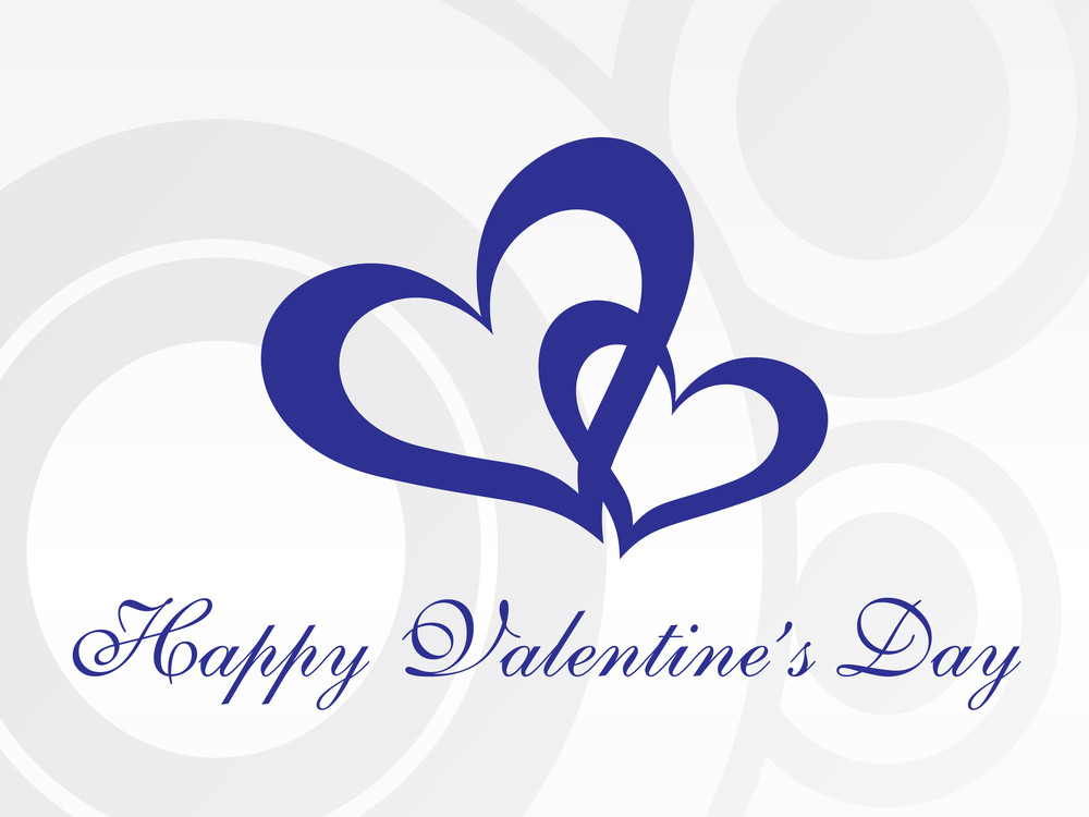 Abstract Vector Background With Valentine Ornament