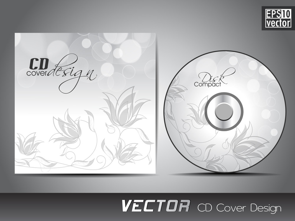Abstract Vector Cd Cover Design In Eps 10 Format.