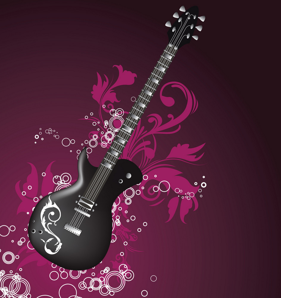 Abstract Vector Guitar Background