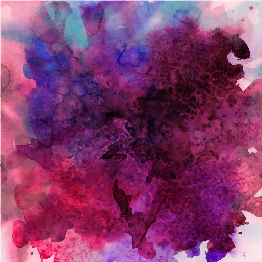 Abstract Vector Hand Drawn Watercolor Background