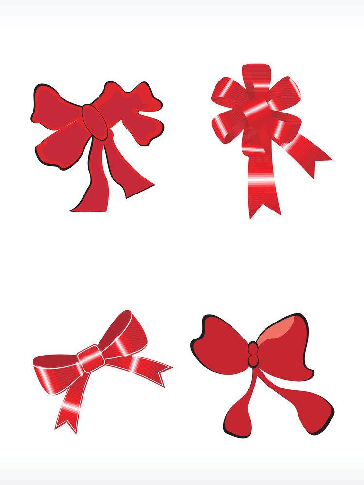 Abstract Vector Icon Of Bow Set