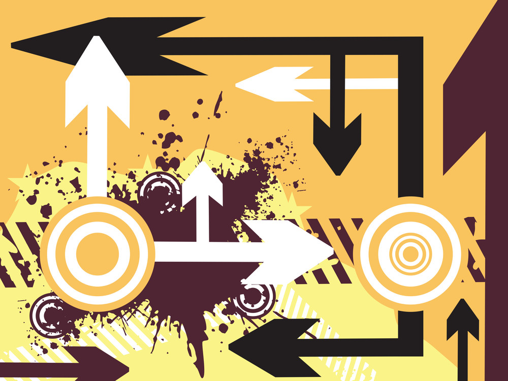 Abstract Vector Illustration Of Arrow