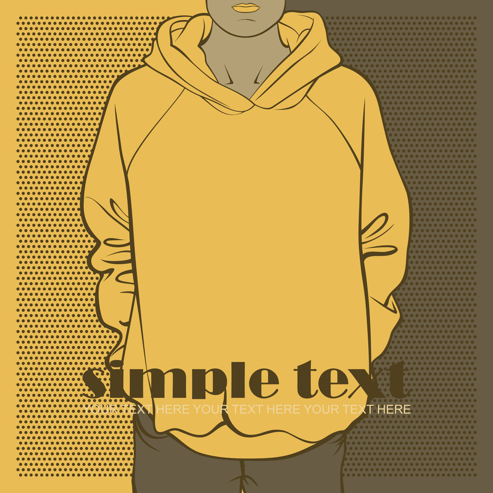 Abstract Vector Illustration Of Sweatshirt.