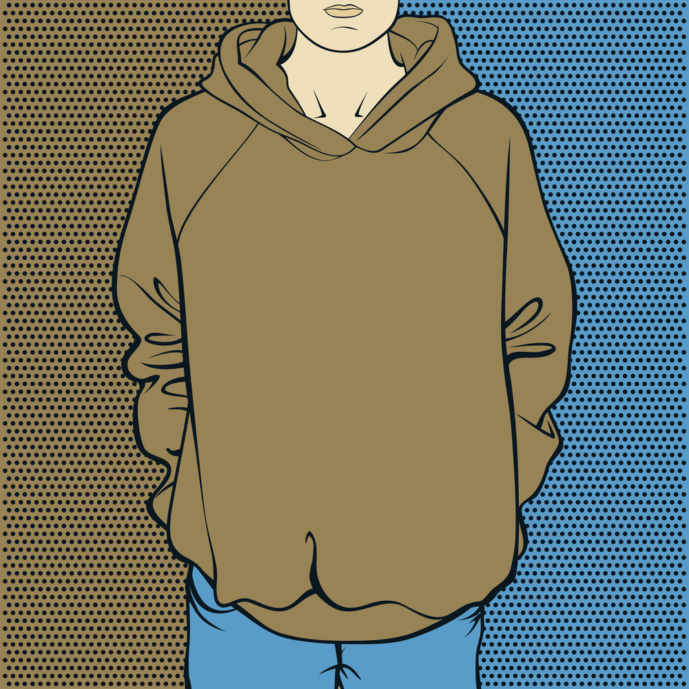 Abstract Vector Illustration Of Sweatshirt.