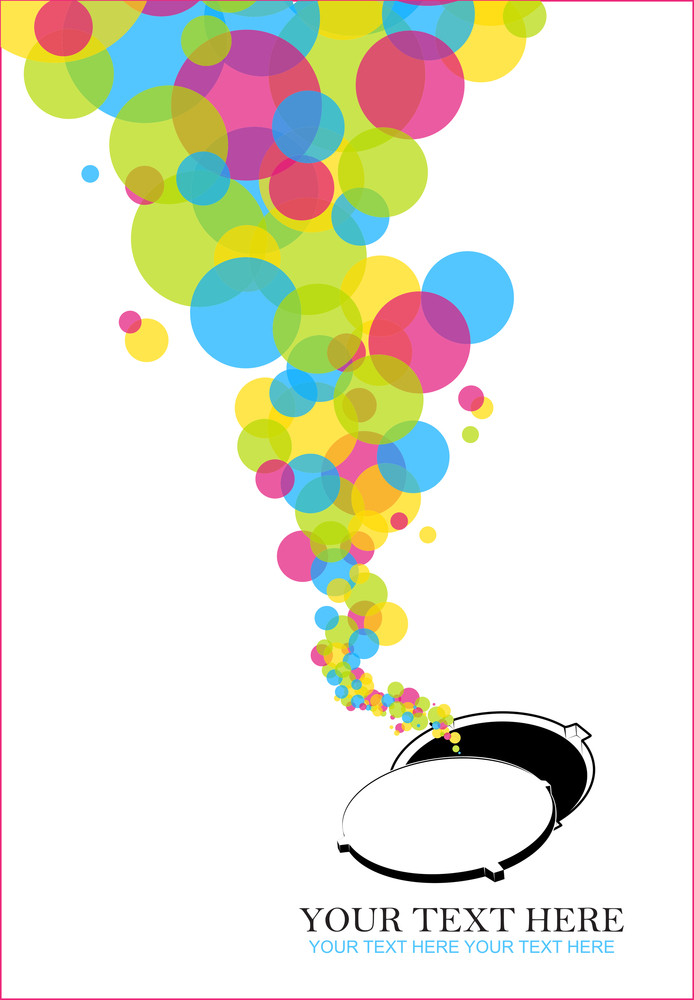 Abstract Vector Illustration With Manhole And Baloons.