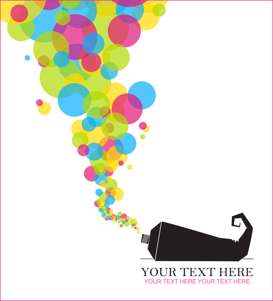 Abstract Vector Illustration With Tube And Balloons.