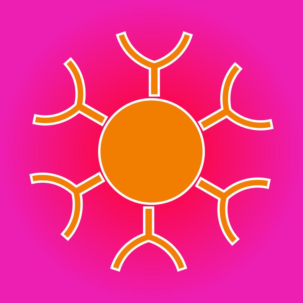Abstract Vector Sun Design
