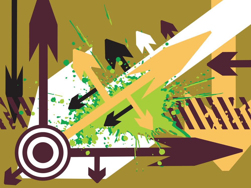 Abstract Vector Wallpaper Of Arrow