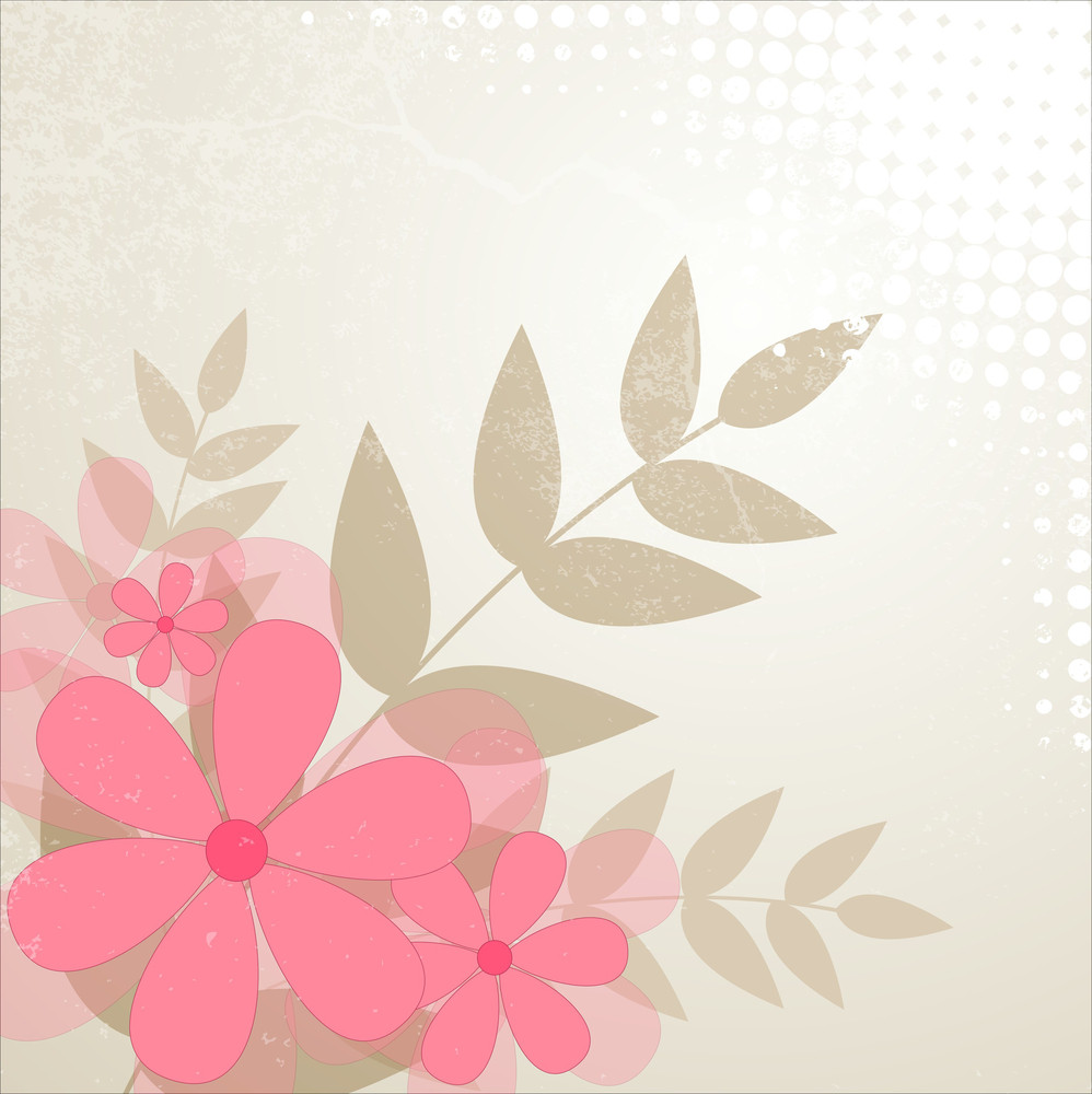 Abstract Vintage Flowers Background