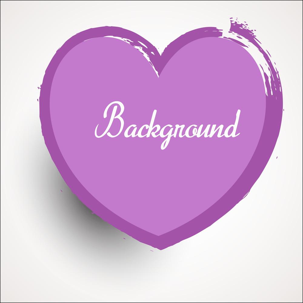 Abstract Vintage Grunge Valentine Heart