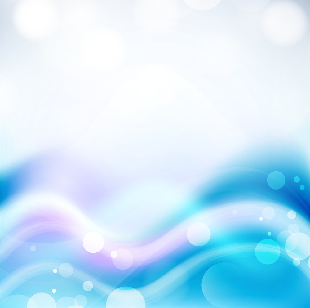Abstract Waves Background In Blue Color