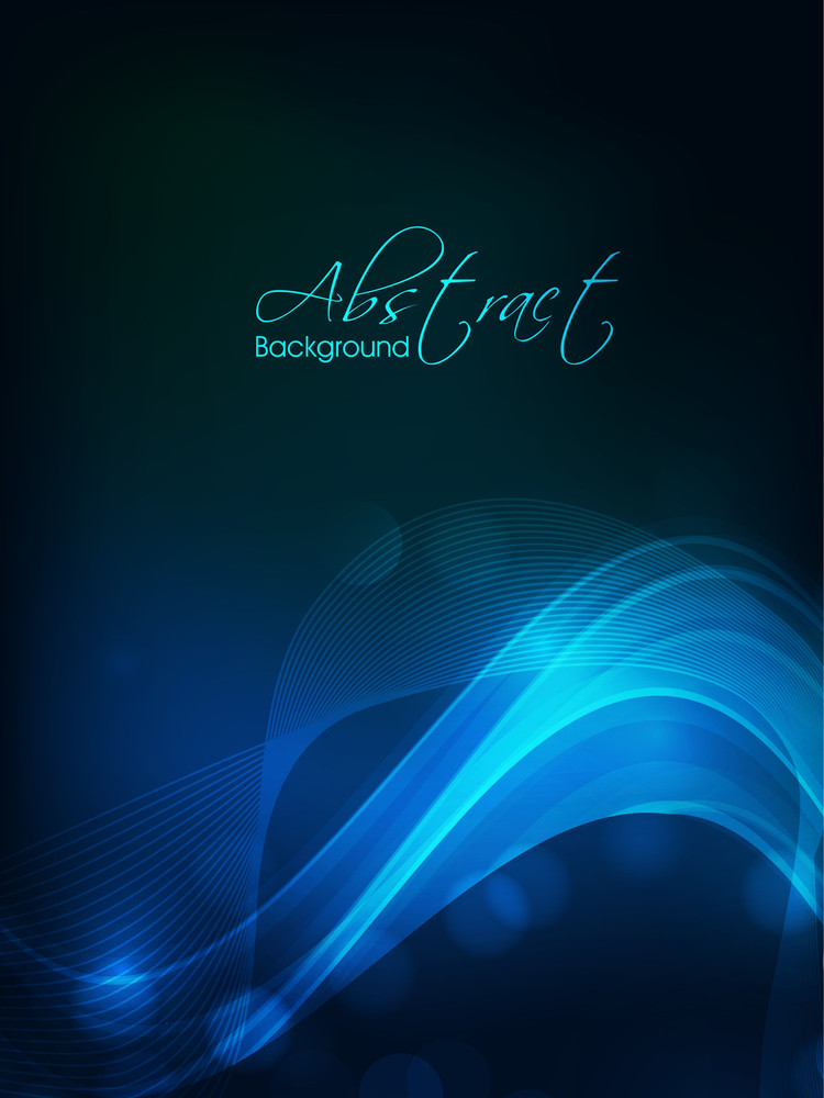 Abstract Waves Background In Multicolor