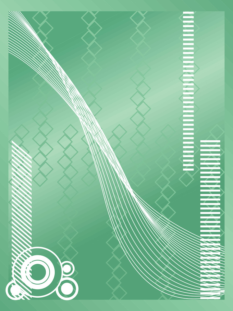 Abstract Waves Green Vector Background