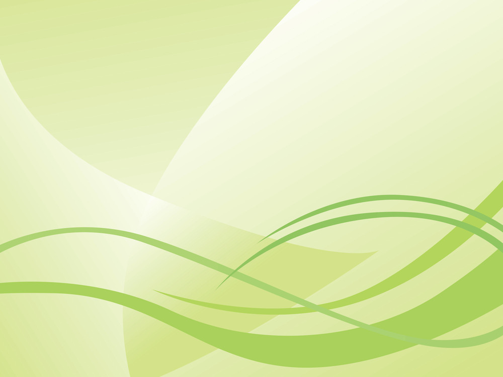 Abstract Waves On Green Background