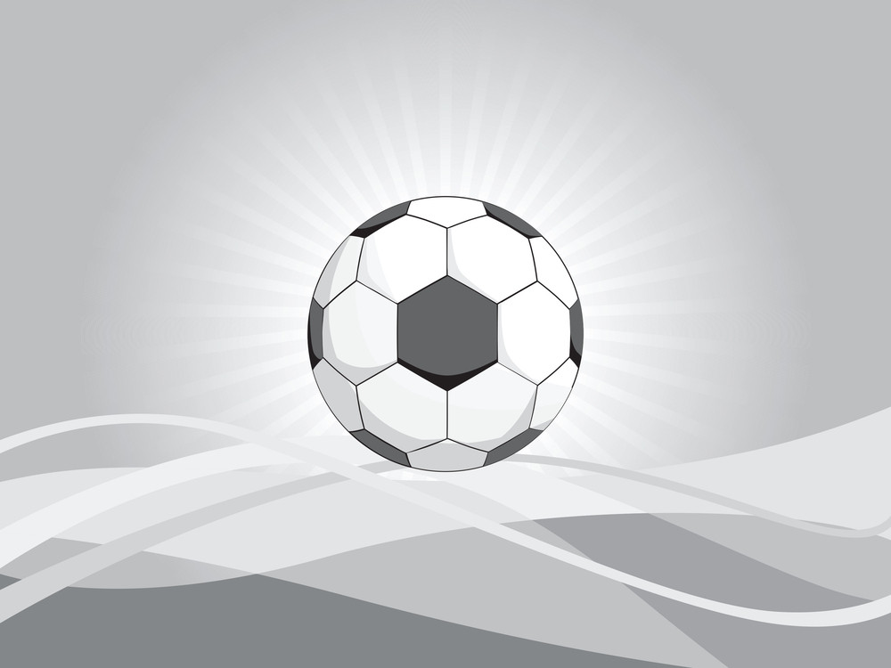Abstract Wavy Background With Football