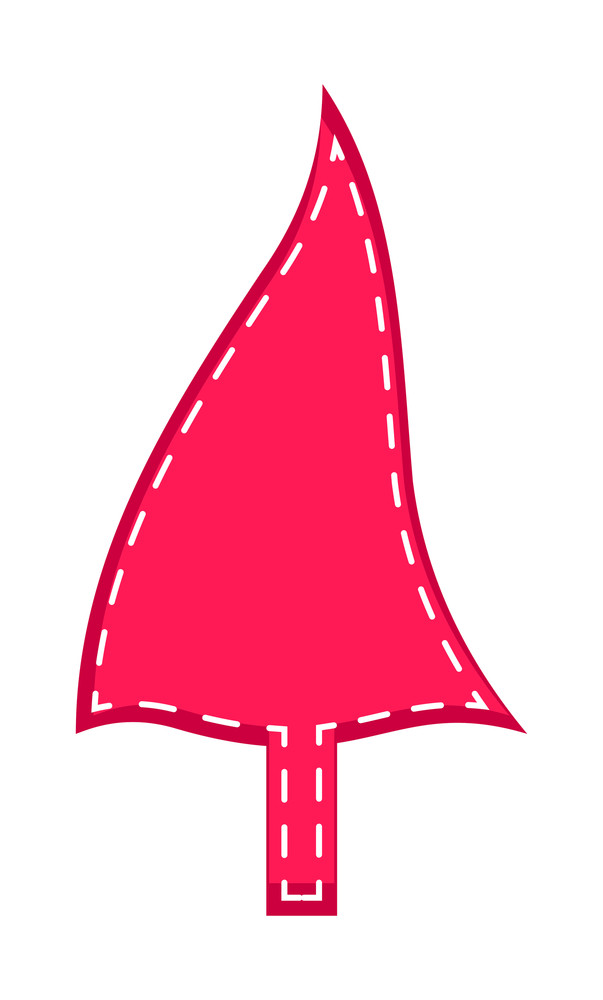 Abstract Wavy Christmas Tree
