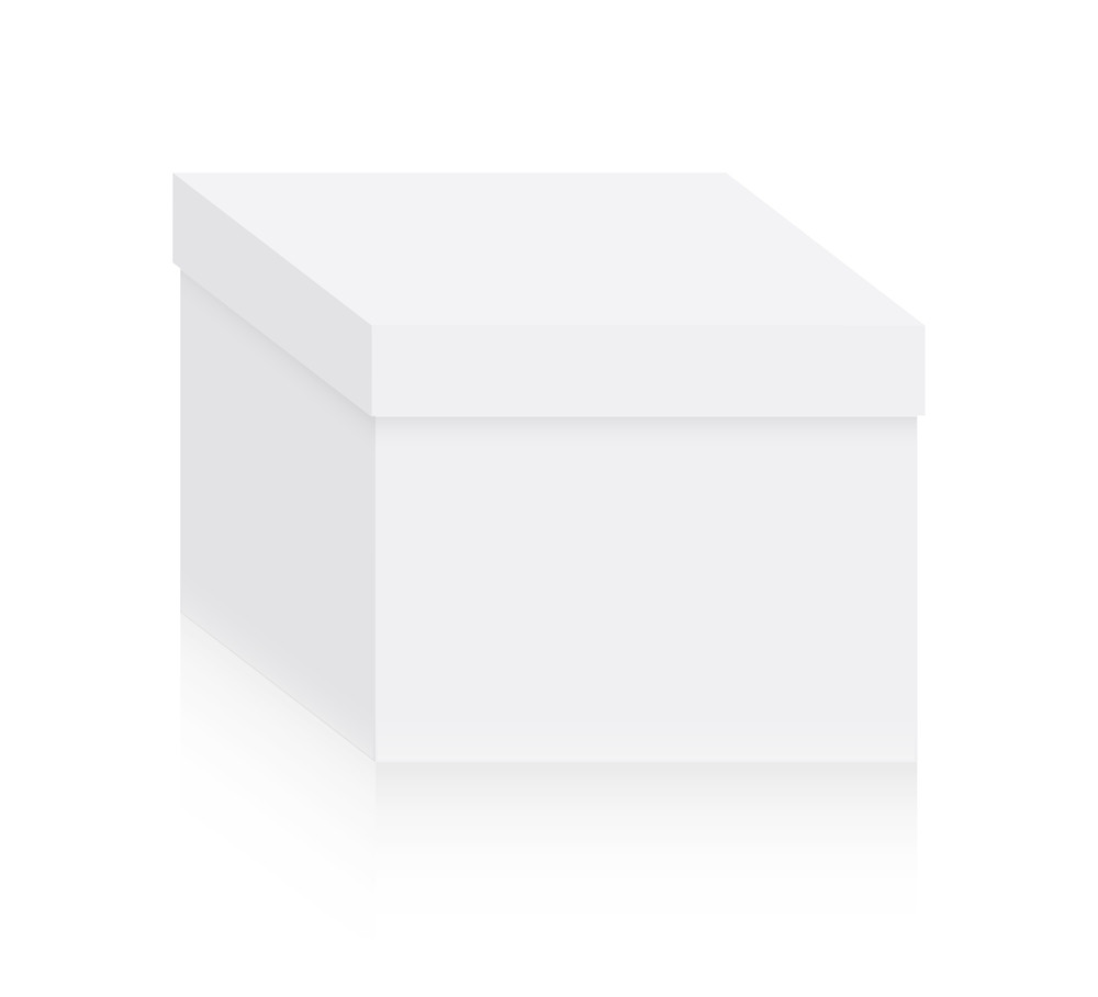Abstract White Box Vector Shape