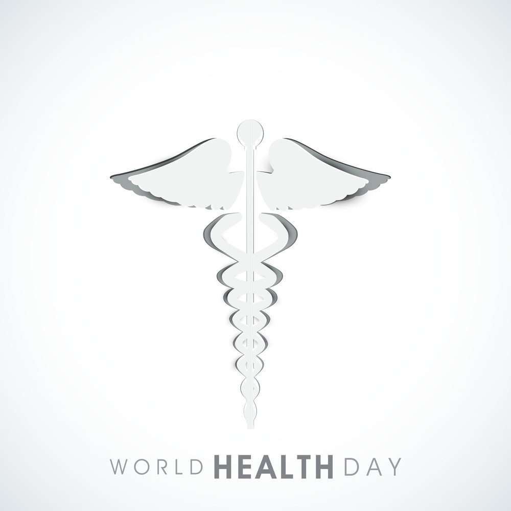 Abstract World Heath Day Concept With Medical Icon On Grey Background.
