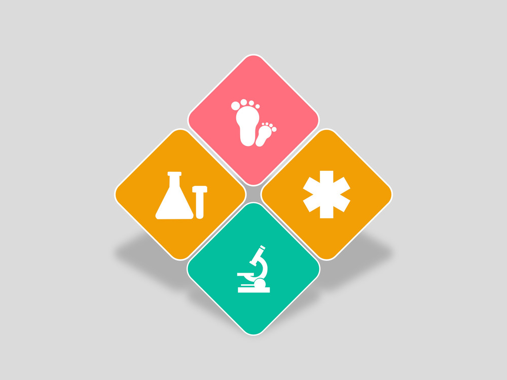 Abstract World Heath Day Concept With Medical Icons On Grey Background.