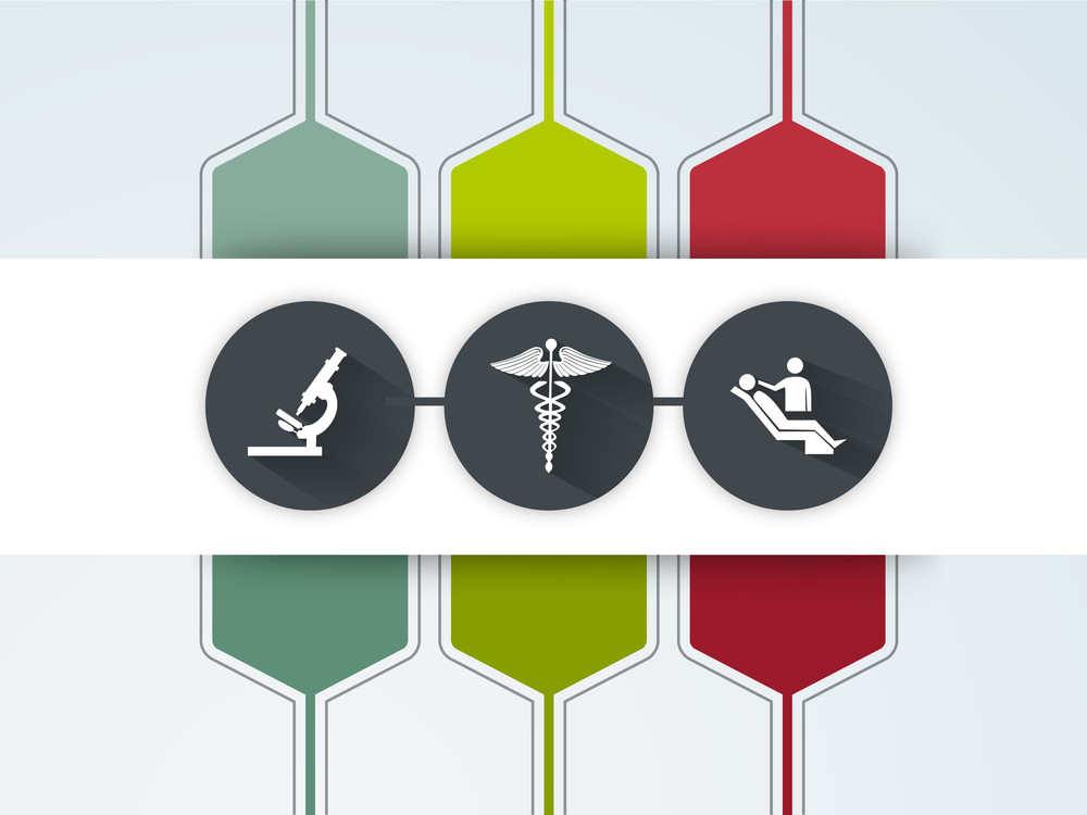 Abstract World Heath Day Concept With Medical Icons.