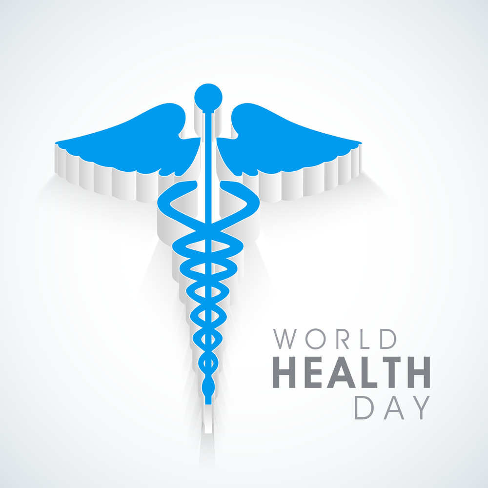 Abstract World Heath Day Concept With Medical Symbol On Grey Background.