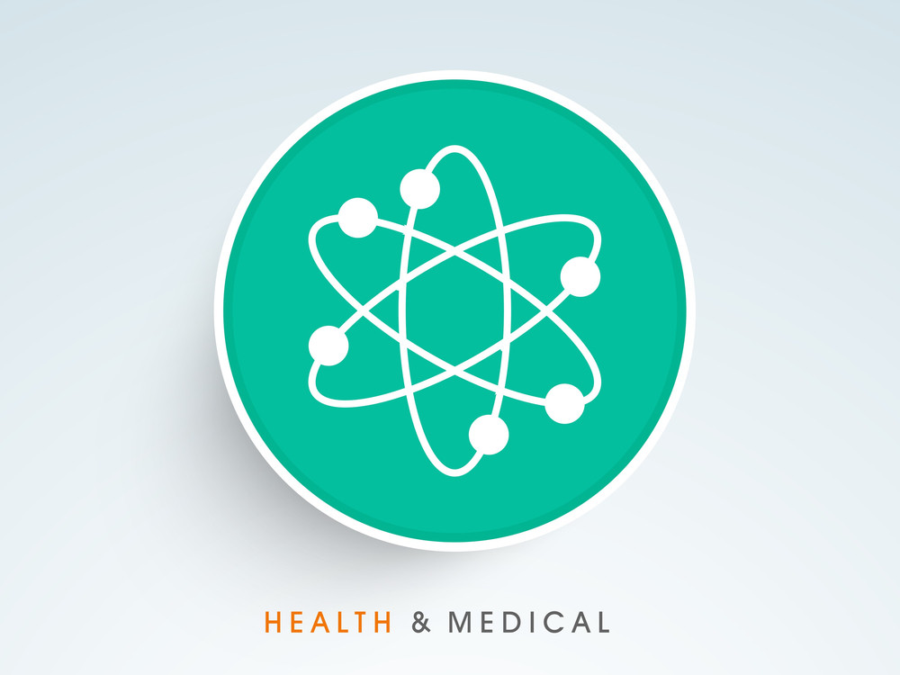 Abstract World Heath Day Concept With Molecular Icon On Blue Background.