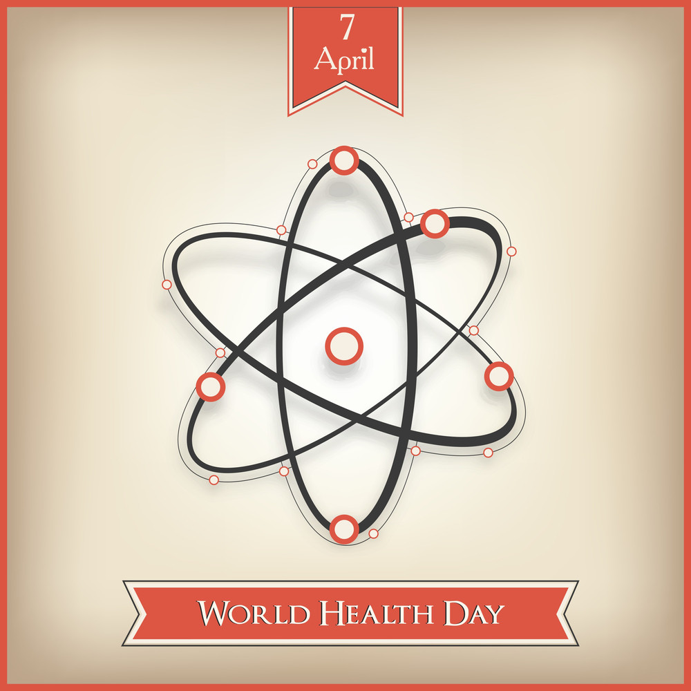 Abstract World Heath Day Concept With Molecules On Brown Background.