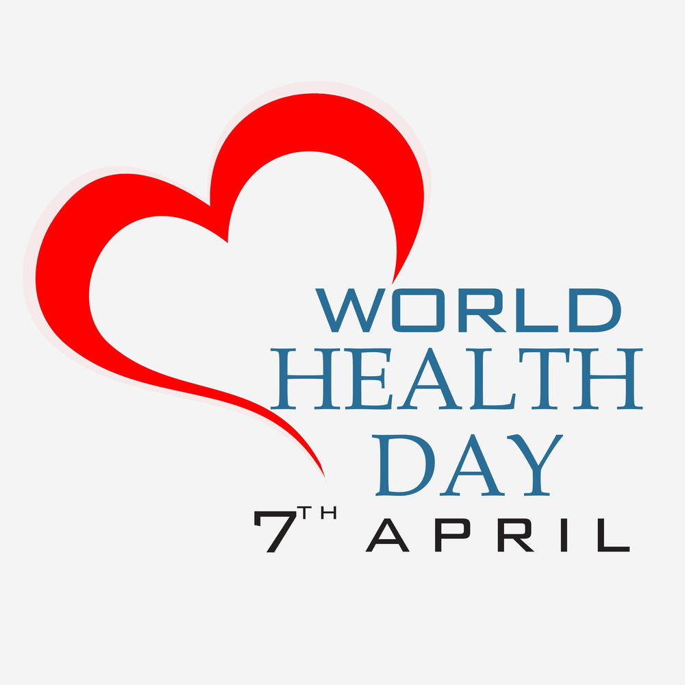 Abstract World Heath Day Concept With Stylish Red Heart On Grey Background.