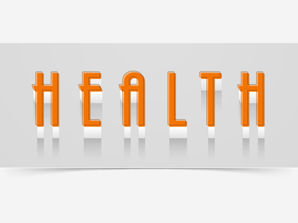 Abstract World Heath Day Concept With Stylish Text In Orange Color On Grey Background.