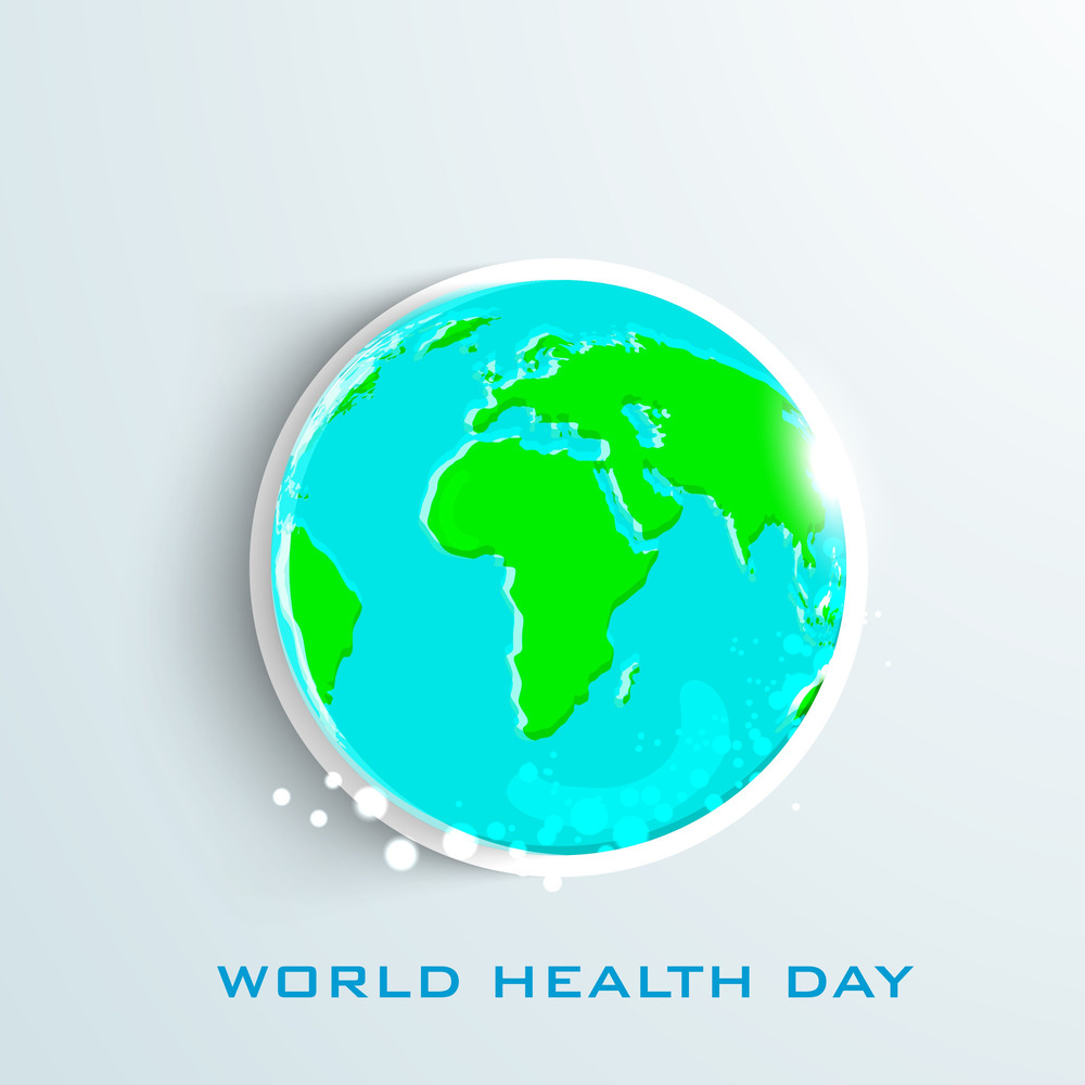 Abstract World Heath Day Concept With World