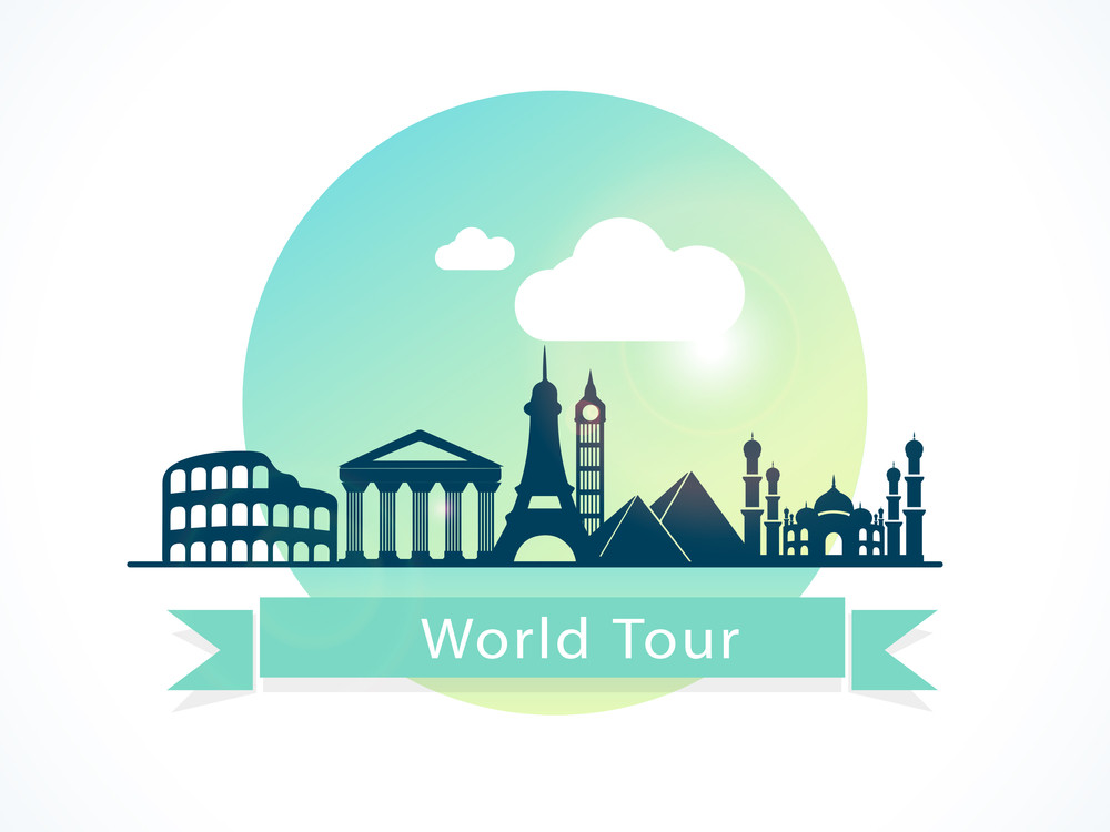 Abstract World Tour Concept