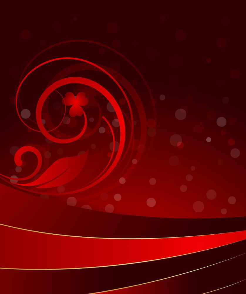 Abstrat Flourish Bokeh Background