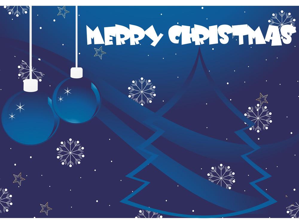 Abstrcat Merry Xmas Background Illustration