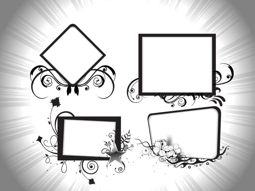 Abstrct Retro Frame Background