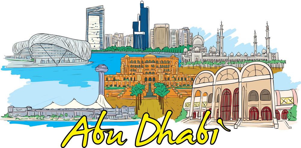 Abu Dhabi Vector Doodle