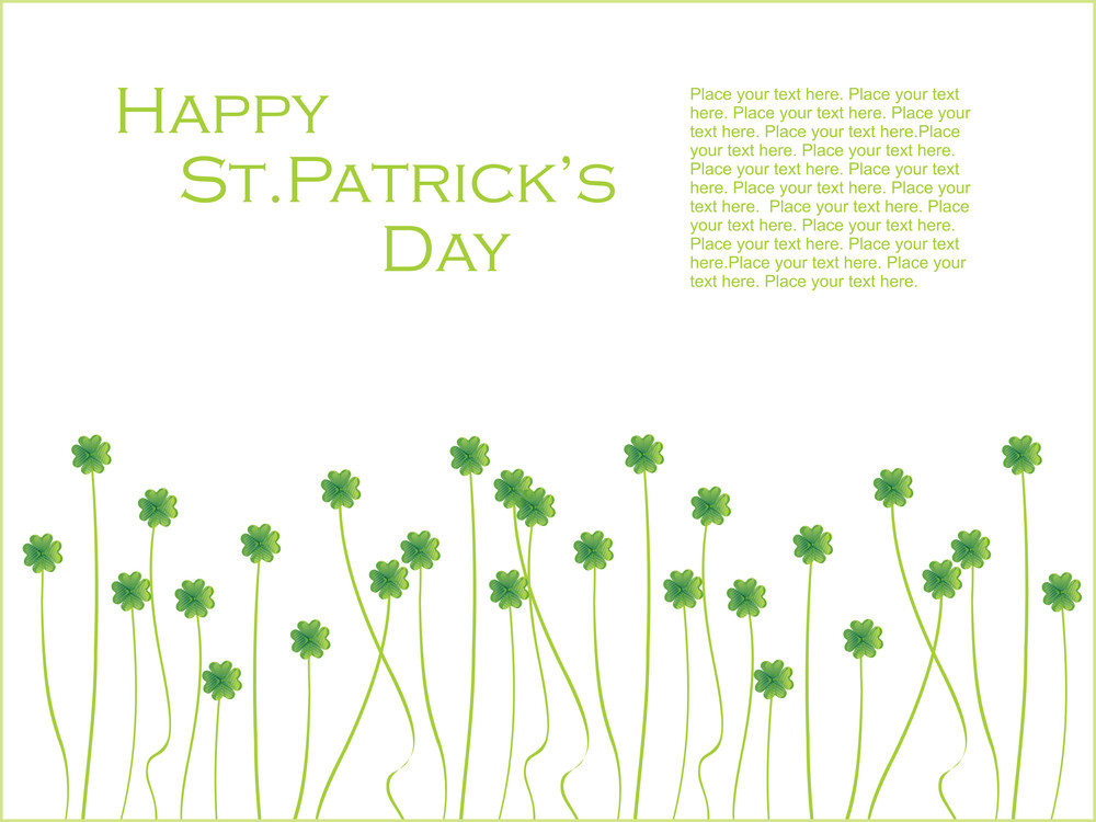 Accent Happy St. Patrick's Day Greeting 17 March