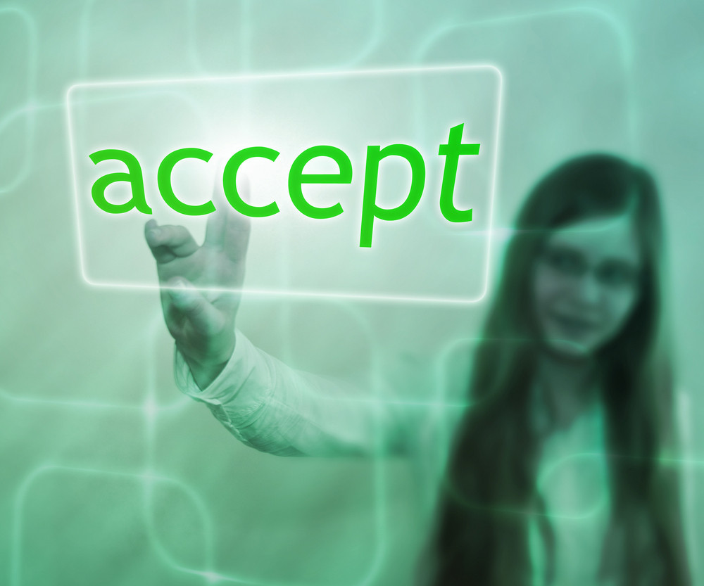 Accept Button On Touch Screen