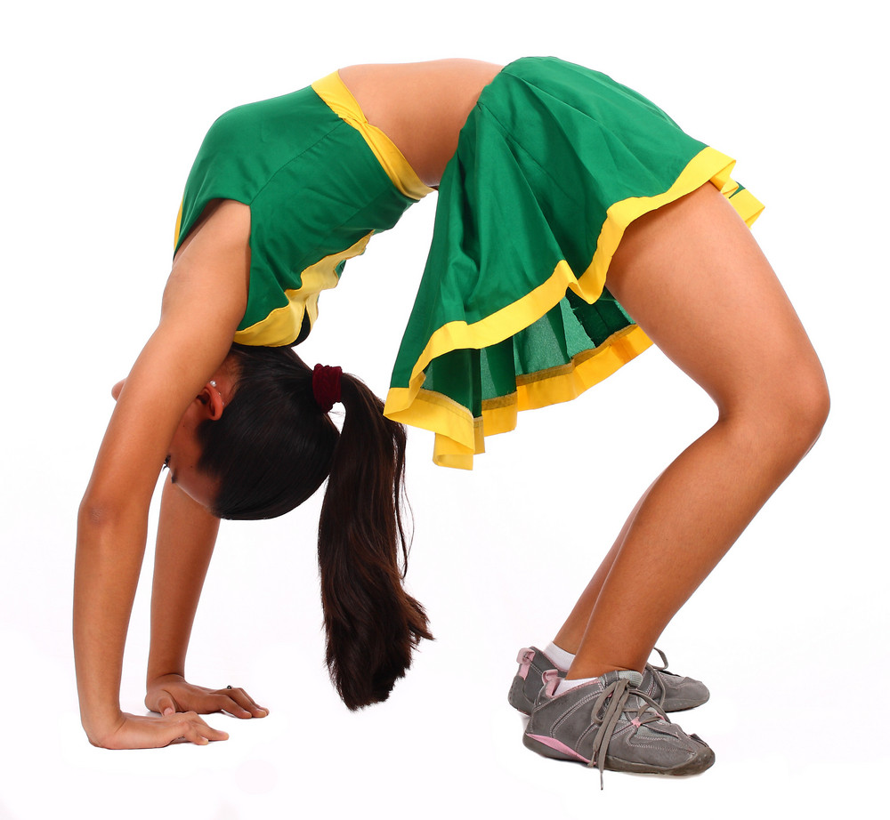 Active Cheerleader Doing Some Exercises